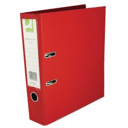 Q-Connect Lever Arch File A4 Polypropylene Red [Pack of 10]