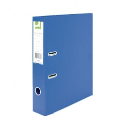 Q-Connect Lever Arch File File Foolscap Polypropylene Blue [Pack of 10]