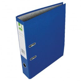 Q-Connect Lever Arch File Foolscap Blue [Pack of 10]