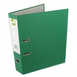 Q-Connect Lever Arch File Foolscap Green [Pack of 10]
