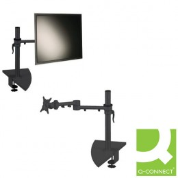 Q-Connect Flat Screen Monitor Arm Dual Swing