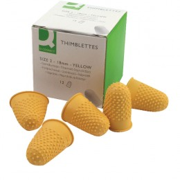 Q-Connect Thimblettes Size 2 Yellow [Pack of 12]