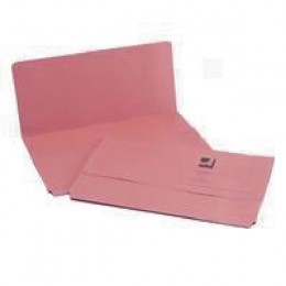 Q-Connect Document Wallet Foolscap Pink [Pack of 50]