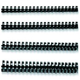 Q-Connect Binding Combs 16mm Black [Pack of 50]