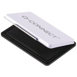 Q-Connect Medium Stamp Pad Metal Case Black