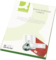 Q-Connect Labels 2/Sheet White [Pack of 100]