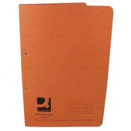 Q-Connect Transfer File Foolscap Orange [Pack of 25]