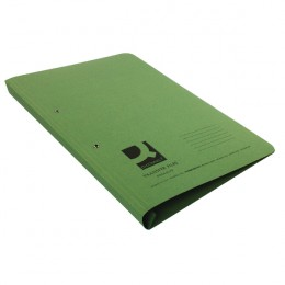 Q-Connect Transfer File Foolscap Green [Pack of 25]