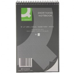 Q-Connect Shorthand Notebook 80 Leaf [Pack of 20]
