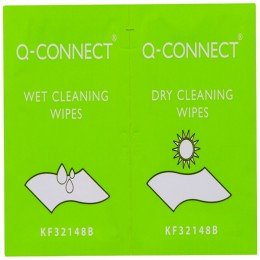 Q-Connect Wet And Dry Wipes [Pack of 20]
