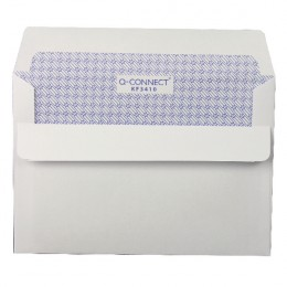 Q-Connect Envelopes Self Seal C6 Low Window White [Pack of 1000]