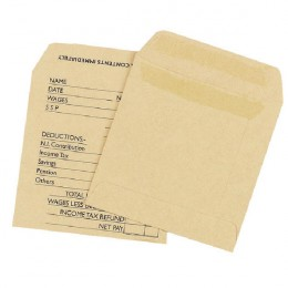 Q-Connect Wage Envelopes Self Seal 108x102mm Printed [Pack of 1000]