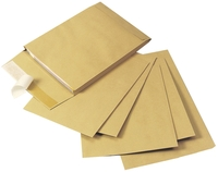 Q-Connect Envelopes 381x254x25mm Gusset Manilla [Pack of 100]
