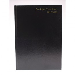 Condiary A4 Academic Diary Week to View 2017-2018 Black