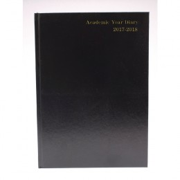 Condiary A5 Academic Diary Week to View 2017-2018 Black