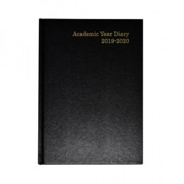Condiary A5 Academic Diary Week to View 2019-2020 Black