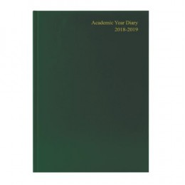 Academic Diary Week to View 2019-20 A5 Green
