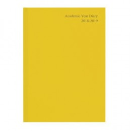 Academic Diary Week to View 2019-20 A5 Yellow