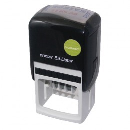 Q-Connect Custom Date Self Inking Stamp 43x28mm