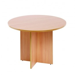 Arista 1200mm Round Meeting Table Beech