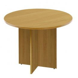 Arista 1200mm Round Meeting Table Oak