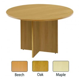 Arista 1200mm Round Meeting Table Maple