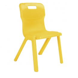 Titan 1 Piece School Chair Size 2 Yellow