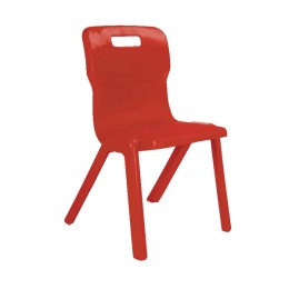 Titan 1 Piece School Chair Size 4 Red
