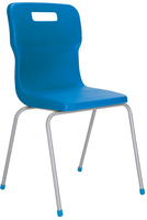 Titan 4 Leg School Chair Size 6 Blue