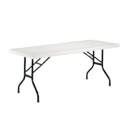 Jemini 1220mm Folding Rectangular Table White