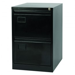 Jemini 2 Drawer Filing Cabinet Black