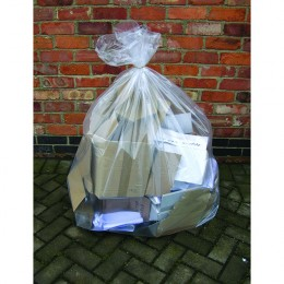 2Work Clear Wheelie Bin Liner [Pack of 100]