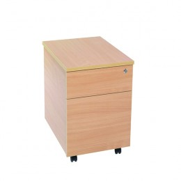 Jemini 2 Drawer Mobile Pedestal Beech