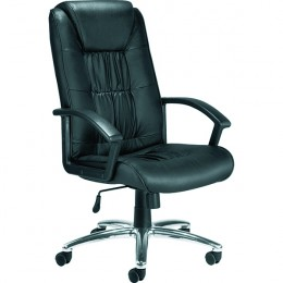 Jemini Leather Faced High Backed Executive Chair Black
