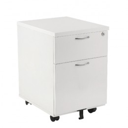 Jemini 2 Drawer Mobile Pedestal 595mm White