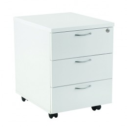 Jemini 3 Drawer Mobile Pedestal 595mm White