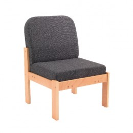 Arista Reception Seat Beech Veneer Charcoal