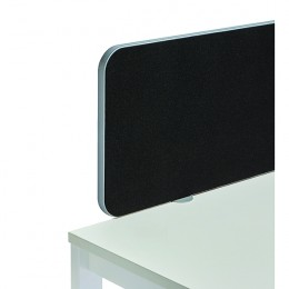 Jemini Straight Rounded Corner Screen Black with Silver Trim 1000mm