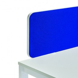 Jemini Straight Rounded Corner Screen Blue with White Trim 1600mm