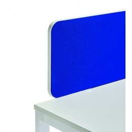 Jemini Straight Rounded Corner Screen Blue with White Trim 1000mm