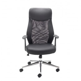 Jemini Mesh High Back Operator Chair Black