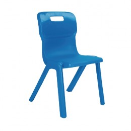 Titan One Piece School Chair Size 1 Blue KF78503