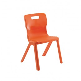 Titan One Piece School Chair Size 3 Orange KF78515