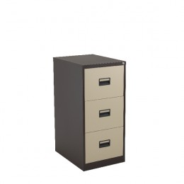 Talos 3 Drawer Filing Cabinet Coffee and Cream