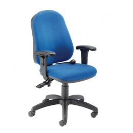 First High Back Posture Chair Blue KF7809