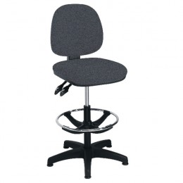 Arista Draughtsman Chair with Adjustable Footrest Charcoal