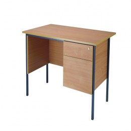 Jemini 1200mm 4 Leg Desk with 2 Drawer Pedestal Beech [Alternative Picture 1]