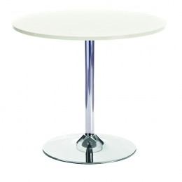Arista Bistro Trumpet Base Table White