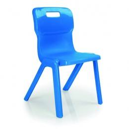 Titan 1 Piece Chair 350mm Blue [Pack of 10]