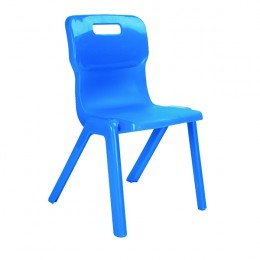 Titan 1 Piece Chair 460mm Blue [Pack of 10]